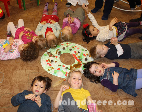 Adie and his friends during their class' Christmas celebration.